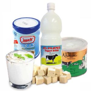 لبنییات و روغن/Melk,vet producten